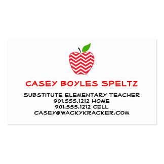 Substitute Teacher Business Cards and Business Card