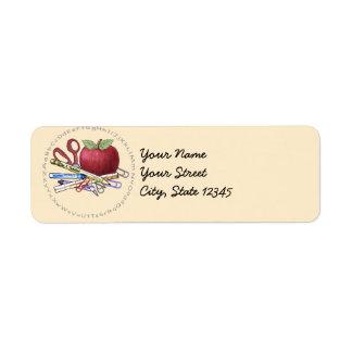 Substitute Teacher Return Address Label
