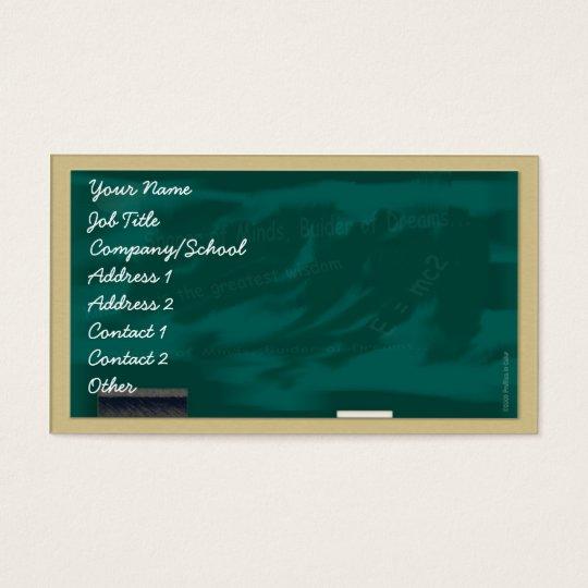 Substitute Teacher's Blackboard Profile Card
