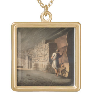 Subterranean Chamber near the Pyramids at Geeza, p Gold Plated Necklace