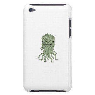 Subterranean Sea Monster Head Drawing Barely There iPod Cases