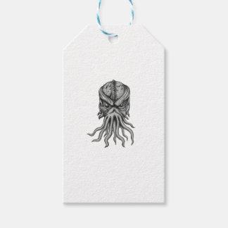 Subterranean Sea Monster Head Tattoo Gift Tags