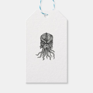 Subterranean Sea Monster Head Tattoo Pack Of Gift Tags