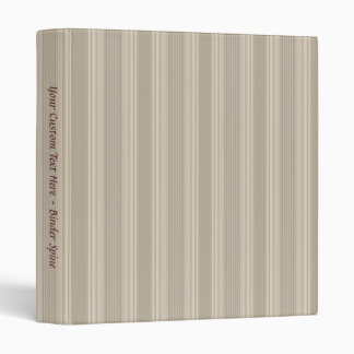 "Subtle Beige Stripe 1"" Binder Template"