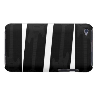subtle Black on Black Bass Guitar Barely There iPod Case