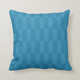 "Subtle Blue ""Block Shift"" Repeating Pattern Pillow"