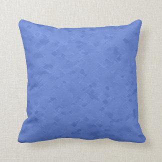 Subtle Bright Blue Pattern Throw Pillow