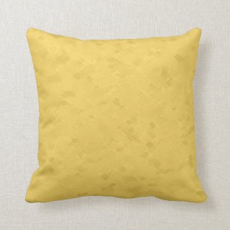 Subtle Bright Yellow Pattern Throw Pillow