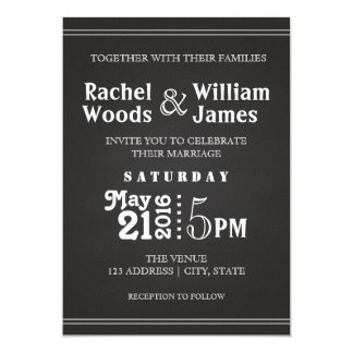 Subtle Chalkboard | Wedding Invitation