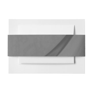 Subtle Charcoal Invitation Belly Band