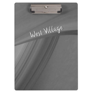 Subtle Charcoal Personalized Clipboard