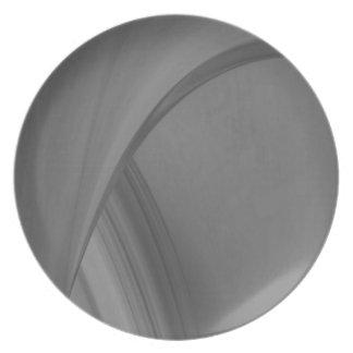 Subtle Charcoal Plate