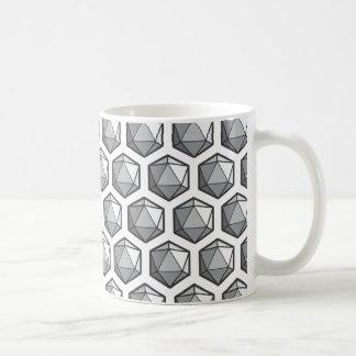 Subtle D20 Design Coffee Mug