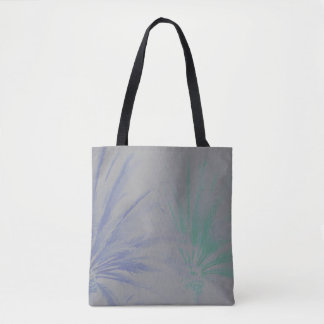 Subtle Desert Palm Trees Blue Grey Purple Teal Tote Bag
