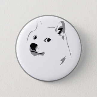 Subtle dogecoin pin badge