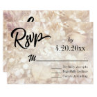 Subtle, Elegant Typography Black Type Wedding RSVP Card