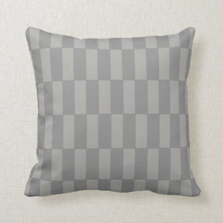 "Subtle Grey ""Block Shift"" Repeating Pattern Pillow"