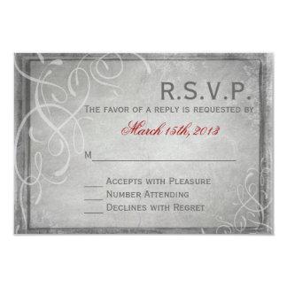 Subtle Grey Elegance - RSVP Card