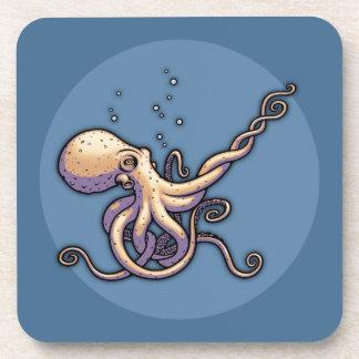 Subtle Guitar Octopus Drink Coasters