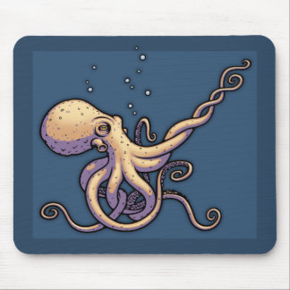 Subtle Guitar Octopus Mouse Pad