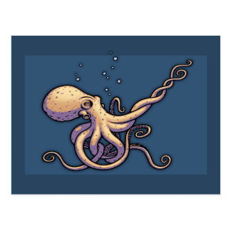 Subtle Guitar Octopus Postcard