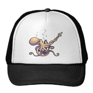 Subtle Guitar Octopus Trucker Hat