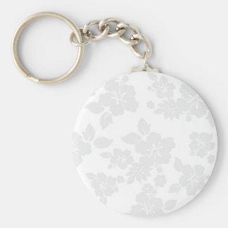 Subtle Hawaiian Basic Round Button Keychain