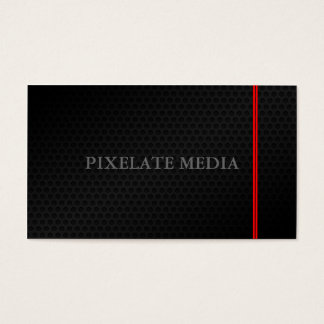 Subtle honeycomb red double line chic business card