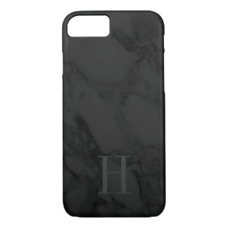 Subtle Monogram Black Marble iPhone 8/7 Case