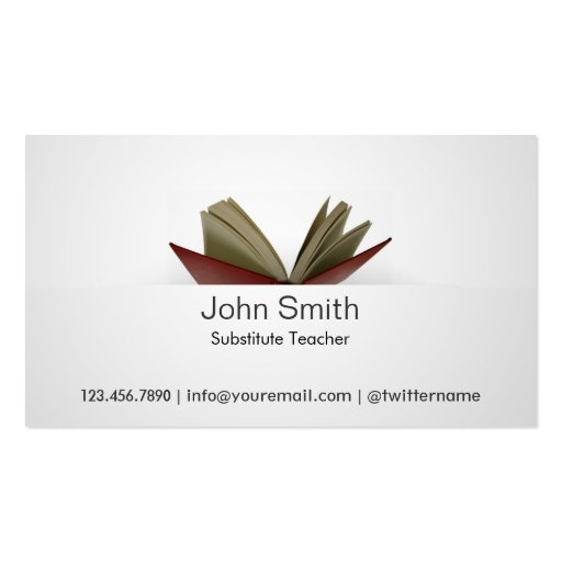 Substitute Teacher Business Card Template Goalgoodwinmetalsco - Substitute teacher business card template