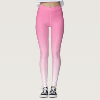 Subtle Pink Stripes Leggings