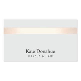 Subtle Rose Gold Striped Modern Stylish Gray 2 Pack Of Standard Business Cards