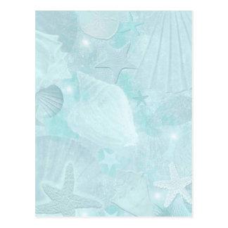 Subtle sea shells Graphic Art Postcard