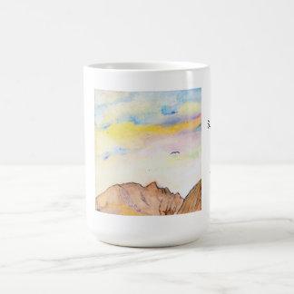 Subtle shades of green basic white mug