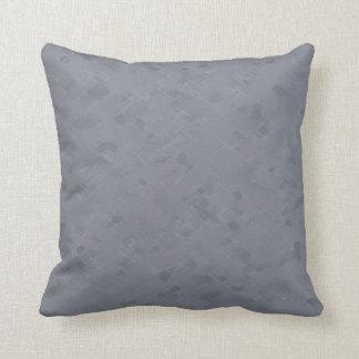 Subtle Slate Gray Pattern Throw Pillow