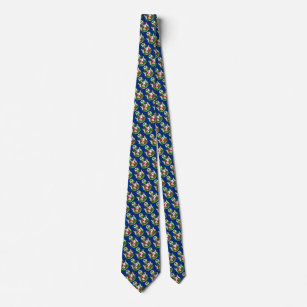 Subtle St. Luis Coat of Arms Patterned Tie