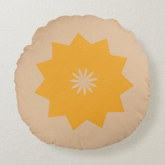 Subtle Sun Round Pillow