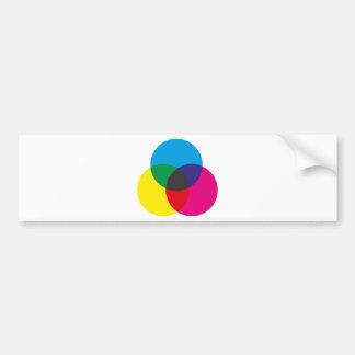 Subtractive Color Mixing Chart Bumper Sticker