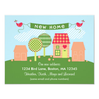 "Suburb New Home Card 4.25"" X 5.5"" Invitation Card"