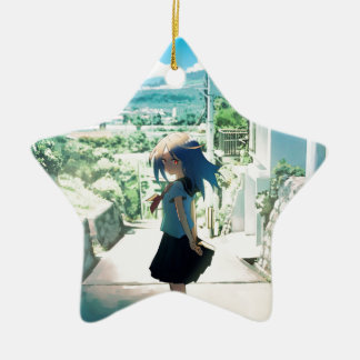 Suburban Girl Ceramic Ornament