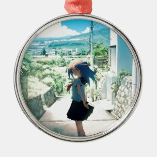 Suburban Girl Metal Ornament
