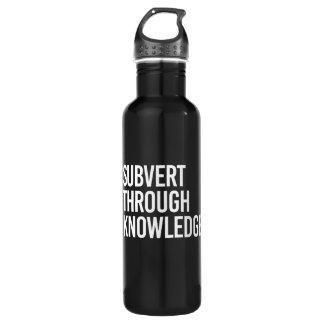SUBVERT THROUGH KNOWLEDGE - - white - 710 Ml Water Bottle