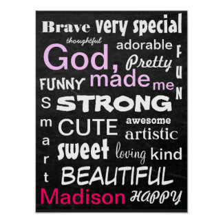 Subway ART Personalize for a Girl Poster