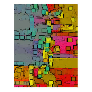 """Subway"" Geometric Art Postcard"
