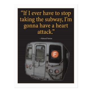 Subway Postcard