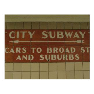 Subway Postcards