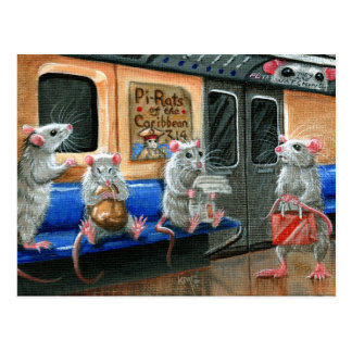 Subway Rats Postcard