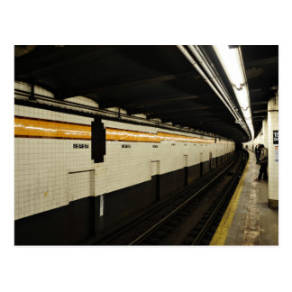 Subway tunnel with tile wall postcard
