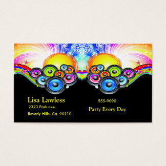 Subwoofers Pumping Music In Rainbow Colors Business Card