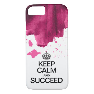 Succeed Watercolor / Keep Calm and Succeed iPhone 8/7 Case